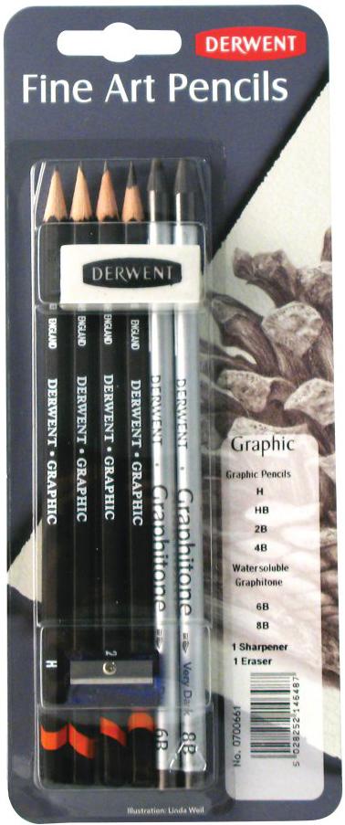 Derwent Набор графических материалов Graphic 8 предметов letter graphic long tank top