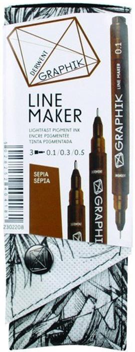Derwent Набор капиллярных ручек Graphik Line Maker цвет сепия 3 шт потолочный светильник globo 48090 3