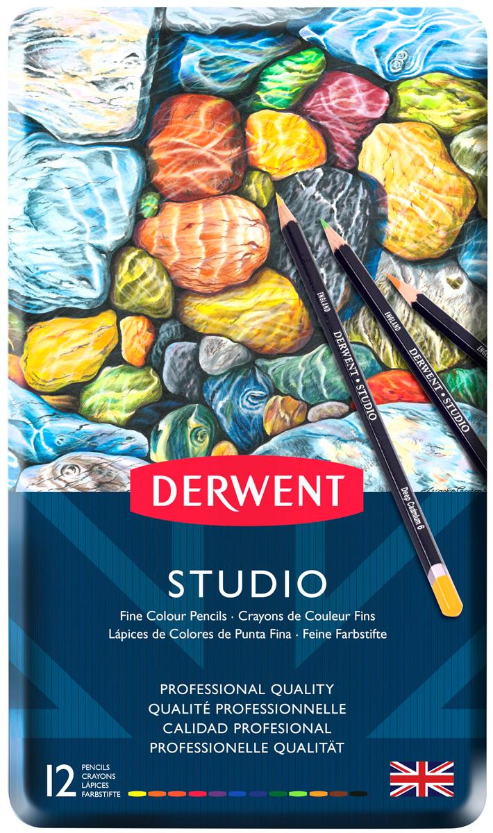 Derwent Набор цветных карандашей Studio 12 цветов derwent набор цветных карандашей studio 36 цветов
