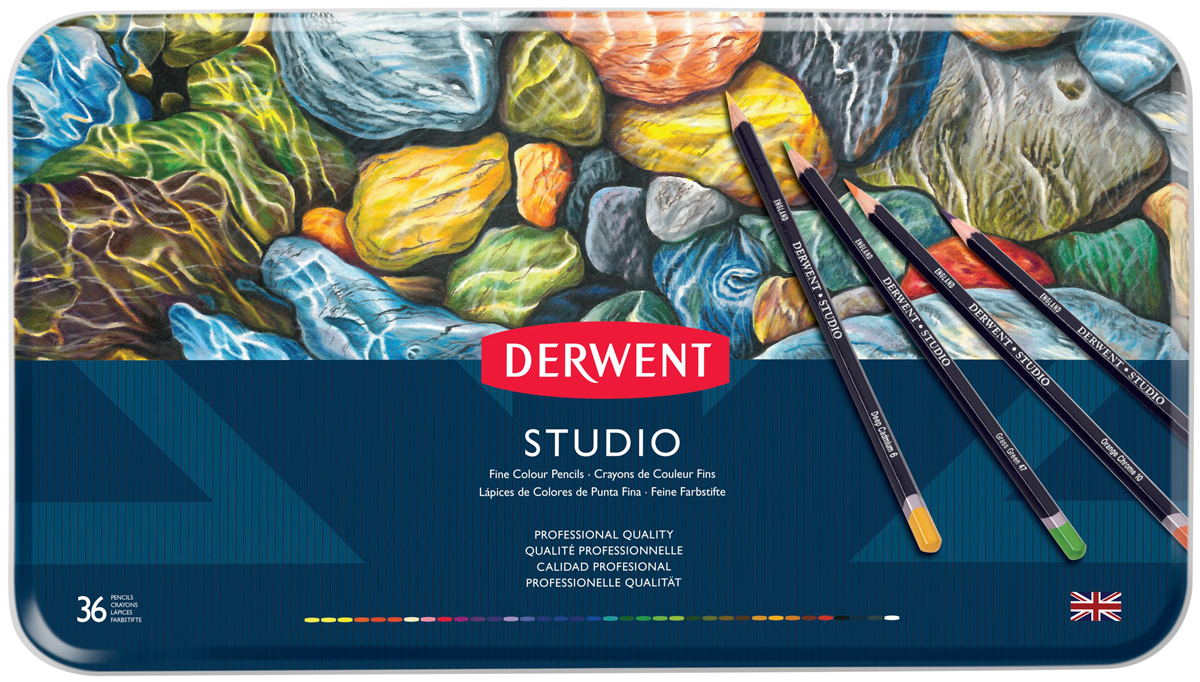 Derwent Набор цветных карандашей Studio 36 цветов linhaoshengyue grey black red white blue green brown purple woven real mink fur hats
