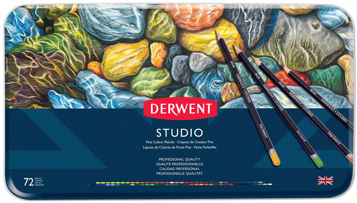 Derwent Набор цветных карандашей Studio 72 цвета 32201 derwent набор цветных карандашей studio 36 цветов