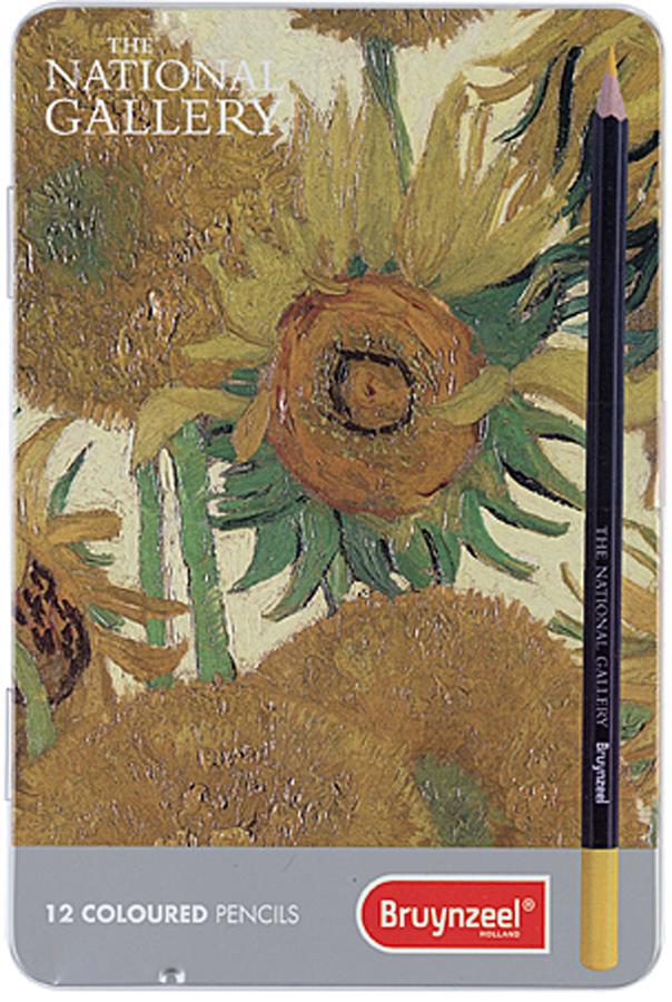 Bruynzeel Набор цветных карандашей Подсолнухи Ван Гог 12 цветов