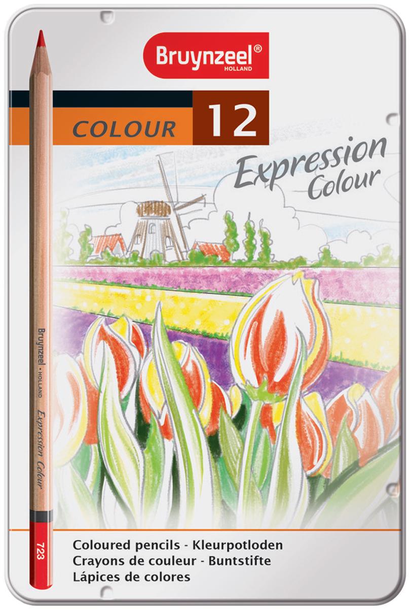 Bruynzeel Набор цветных карандашей Expression Colour 12 цветов карандаши bruno visconti набор карандашей цветных disney белоснежка 6 цветов