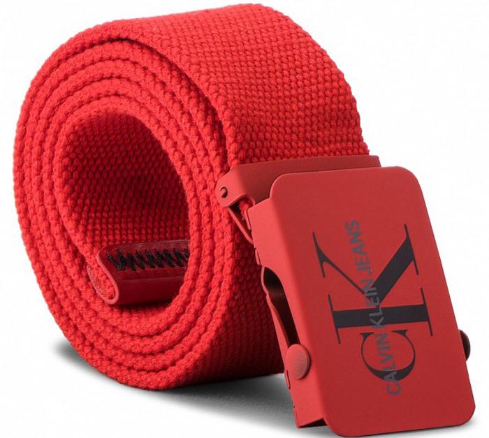 Ремень мужской Calvin Klein Jeans, цвет: красный. K50K503838_630. Размер 90