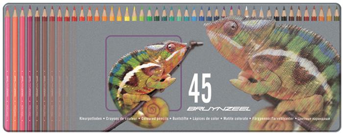 Bruynzeel Набор цветных карандашей Хамелеон 45 цветов