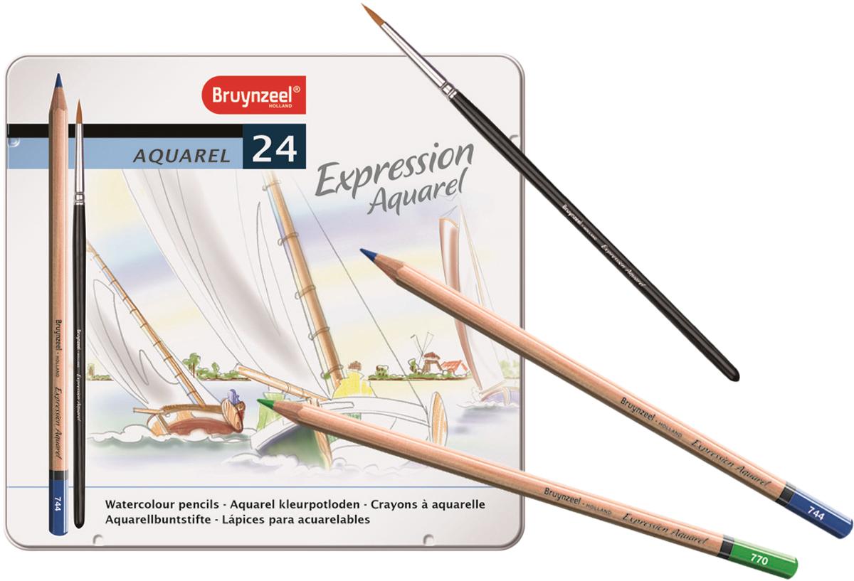 Bruynzeel Набор акварельных карандашей Expression Aquarel 24 цвета + кисть