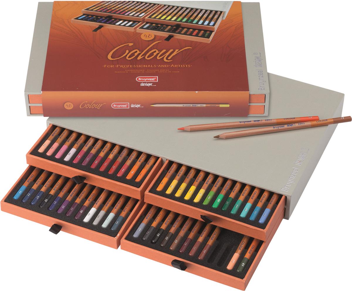 Bruynzeel Набор цветных карандашей Design 48 цветов карандаши bruno visconti набор карандашей цветных disney белоснежка 6 цветов