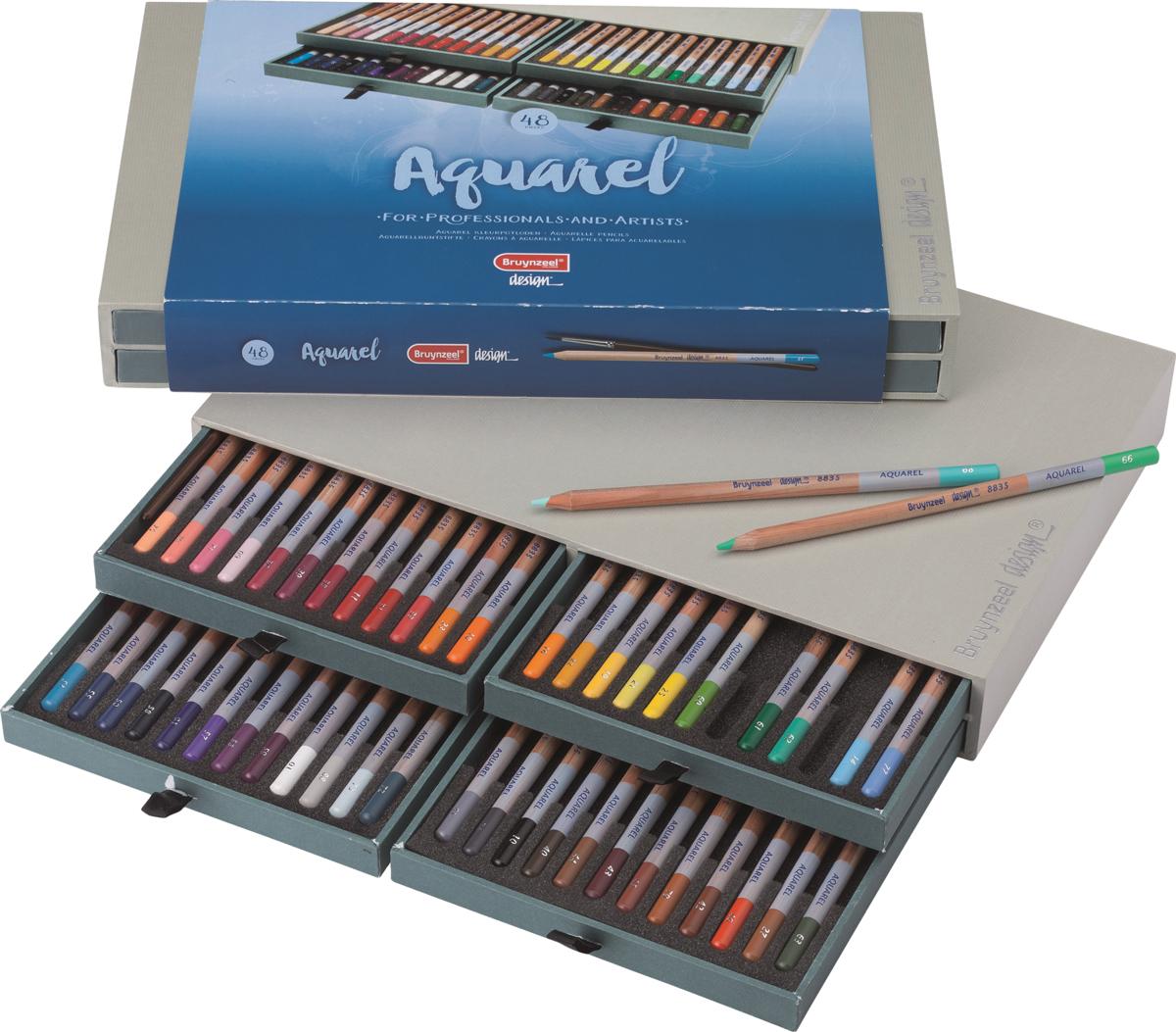 Bruynzeel Набор акварельных карандашей Design 48 цветов