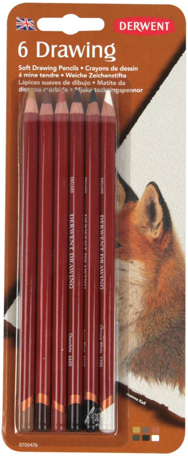 Derwent Набор цветных карандашей Drawing 6 цветов 0700476 derwent набор цветных карандашей coloursoft 36 цветов
