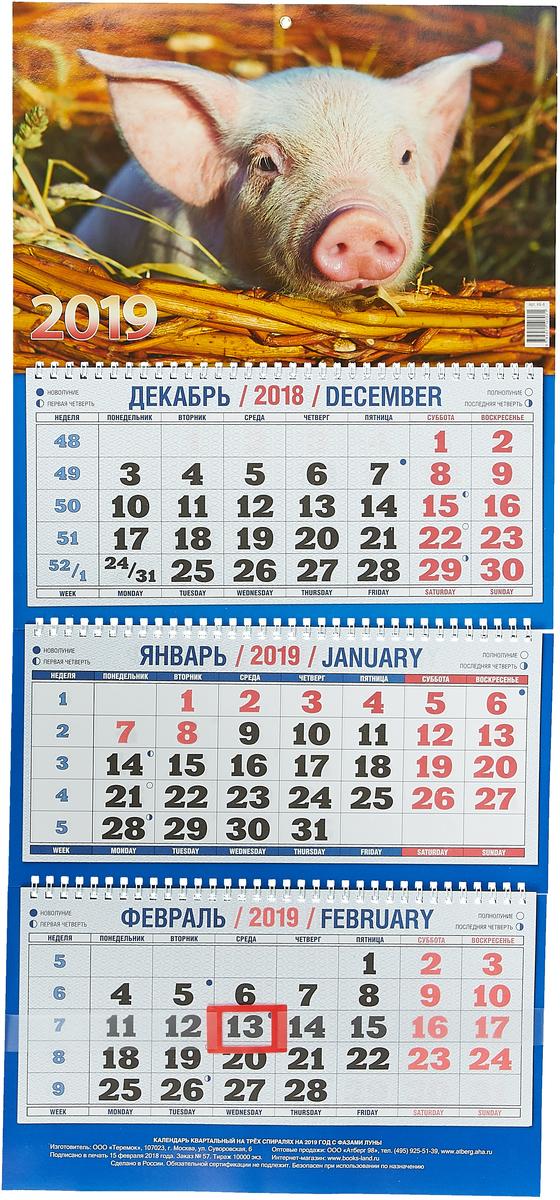 Символ года. Вид 2 (310*685). Календарь 2019 дрель шуруповерт dewalt dcd 791 d2
