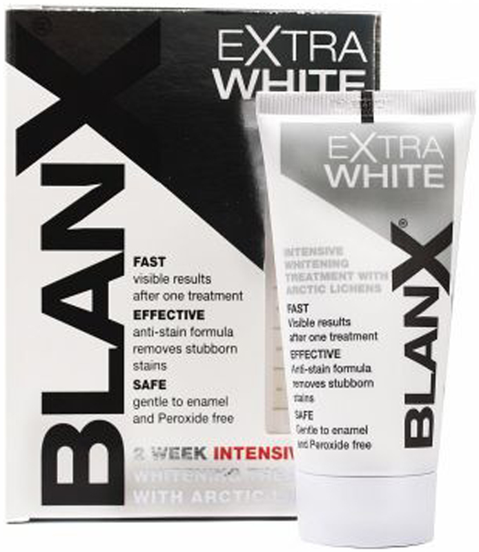 Blanx Зубная паста ExtraWhite, интенсивно отбеливающая, 50 мл swiss smile отбеливающая зубная паста diamond glow brightening 75 мл