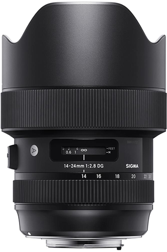 Sigma AF 14-24 mm F/2.8 DG HSM/A, Black объектив для Canon sigma sigma 150 600mm f5 6 3 dg os hsm contemporary полнокадровой телефото зум объектив для съемки птиц лотоса canon байонет