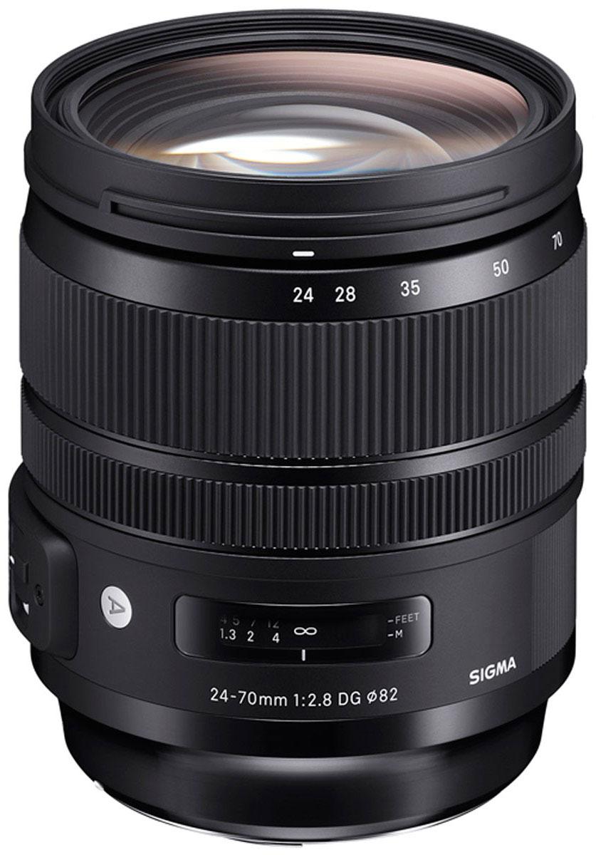 Sigma AF 24-70 mm F/2.8 DG OS HSM/A, Black объектив для Canon sigma sigma art 24 70 f2 8 dg os hsm полнокадровой постоянной большой апертурой стандартный зум объектив портрет пейзаж туризм canon байонет