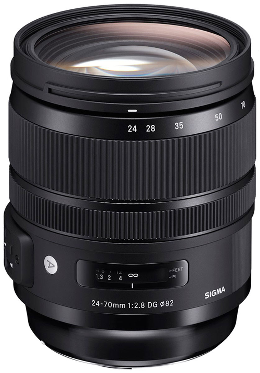 Sigma AF 24-70 mm F/2.8 DG OS HSM/A, Black объектив для Canon sigma sigma 150 600mm f5 6 3 dg os hsm contemporary полнокадровой телефото зум объектив для съемки птиц лотоса canon байонет