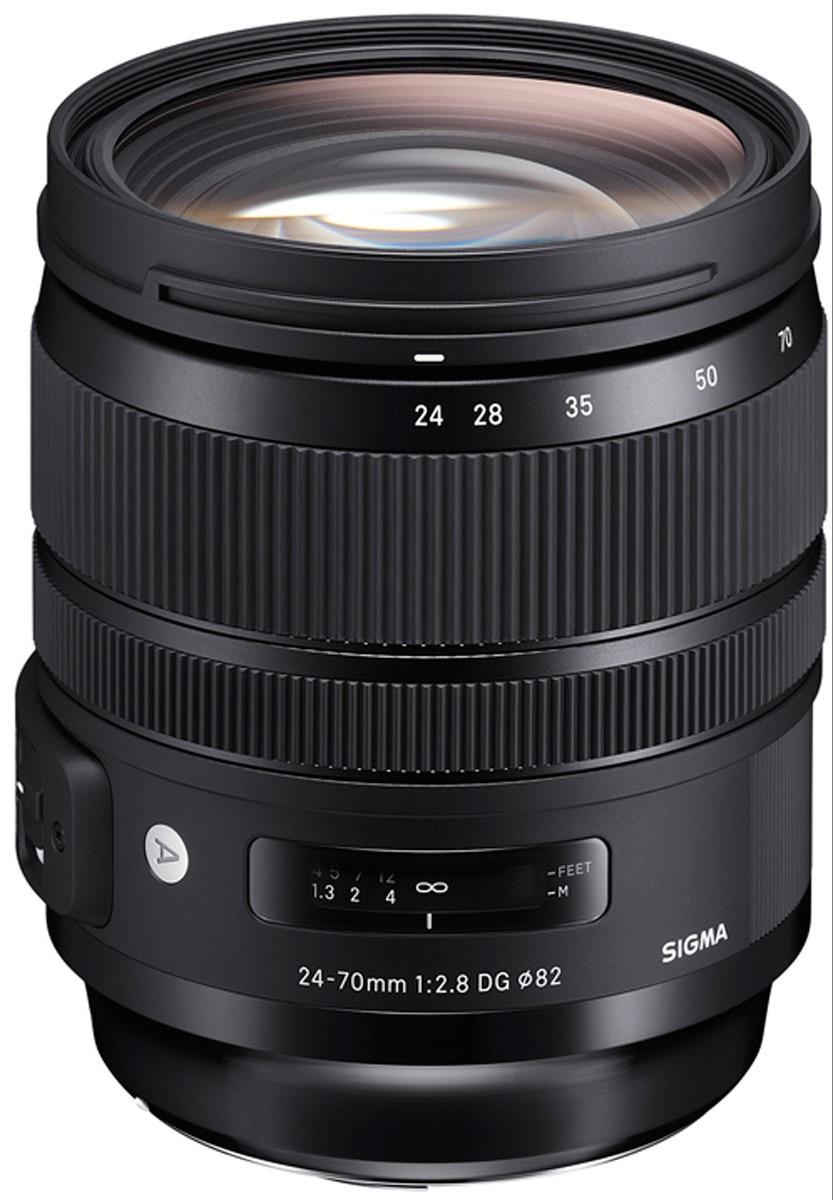 Sigma AF 24-70 mm F/2.8 DG OS HSM/A, Black объектив для Nikon sigma sigma 150 600mm f5 6 3 dg os hsm contemporary полнокадровой телефото зум объектив для съемки птиц лотоса canon байонет