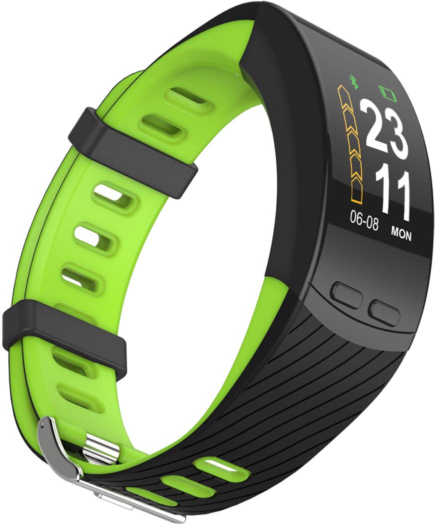Qumann QSB X Green Black, фитнес-браслет