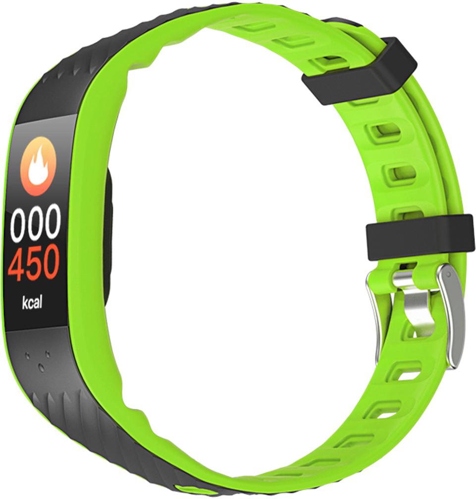 Qumann QSB 12 Green Black, фитнес-браслет