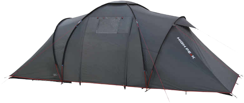 Палатка High Peak Como 6, цвет: темно-серый, 560 х 230 х 200 см. 10237
