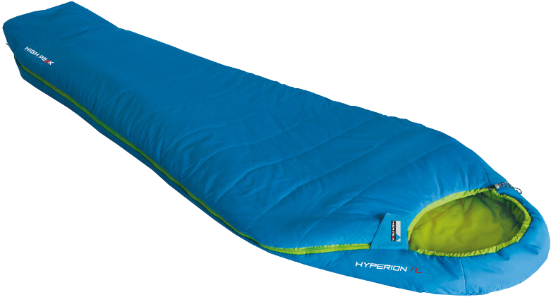 Мешок спальный High Peak Hyperion 1M, цвет: голубой, зеленый, левосторонняя молния. 23360