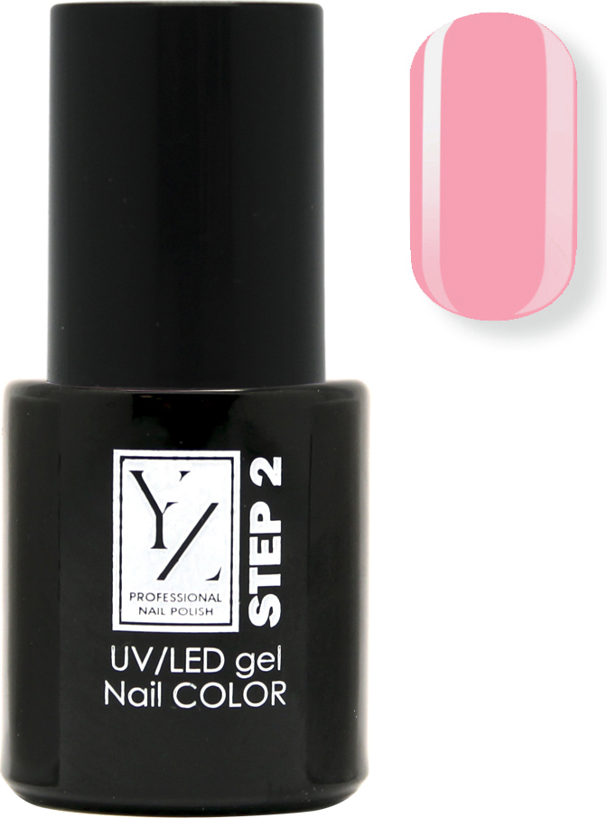 YZ UV/LED гель-лак Насыщенный цвет, тон розовый лепесток, 10 мл