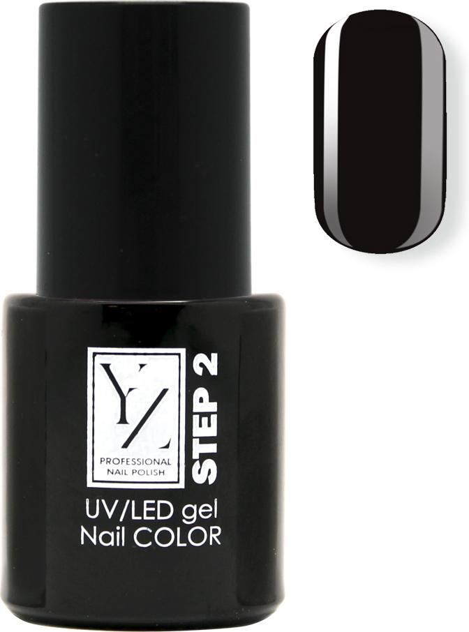 YZ UV/LED гель-лак Насыщенный цвет, тон черная эмаль, 10 мл