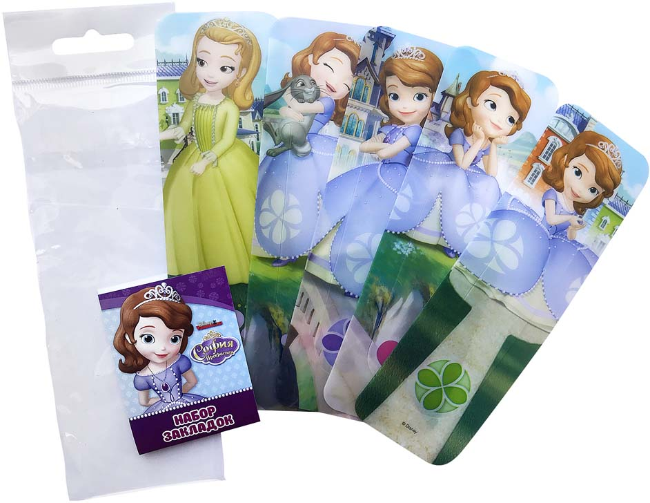 Disney Набор закладок фигурки Disney Принцесса София 5 шт подводный мир набор закладок серия 3 5 шт