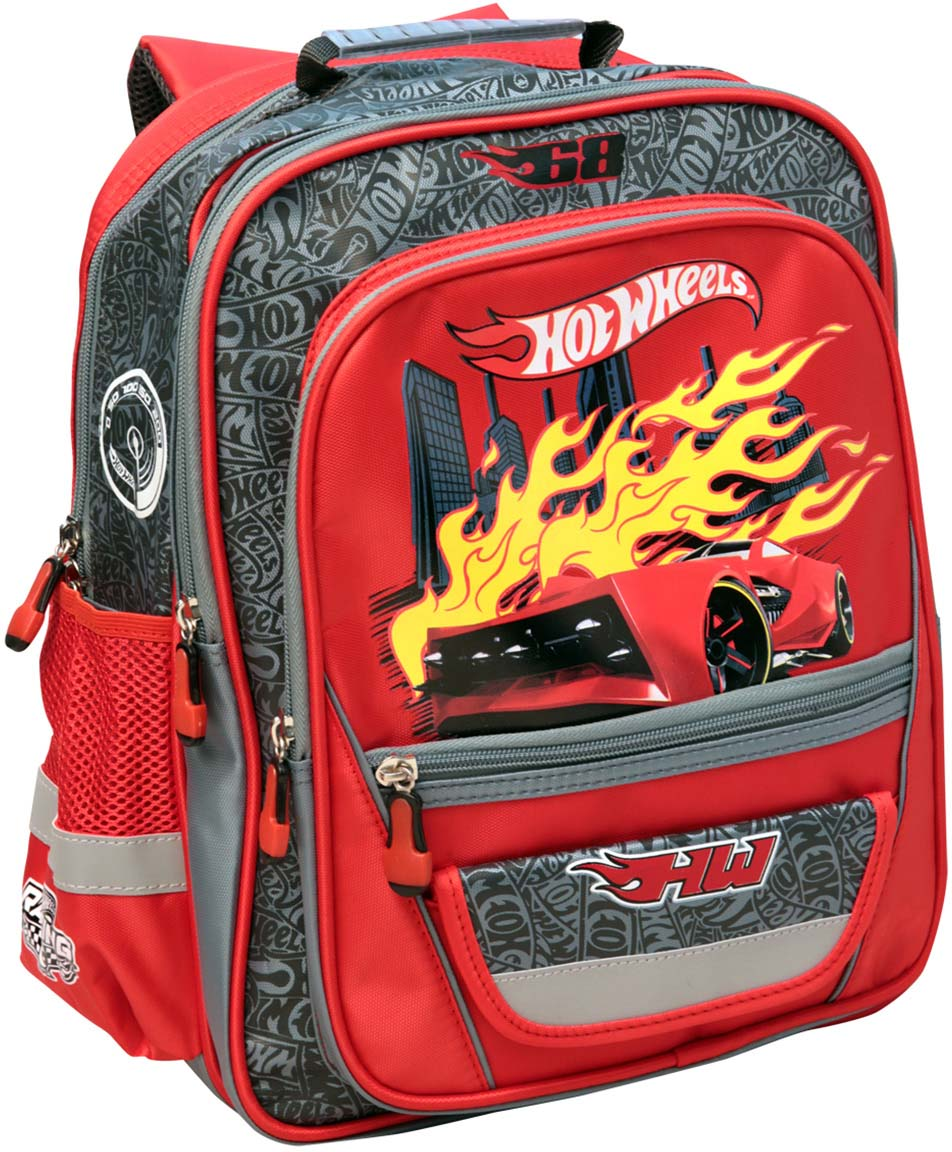 Mattel Рюкзак детский Hot Wheels цвет красный mattel папка для тетрадей hot wheels на молнии цвет синий 4258091