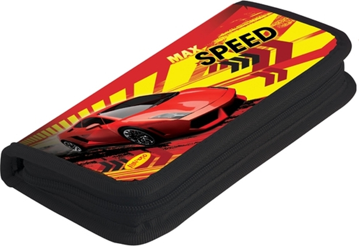 Limpopo Пенал Max Speed с наполнением 9 предметов limpopo карандаши цветные max speed 18 цветов