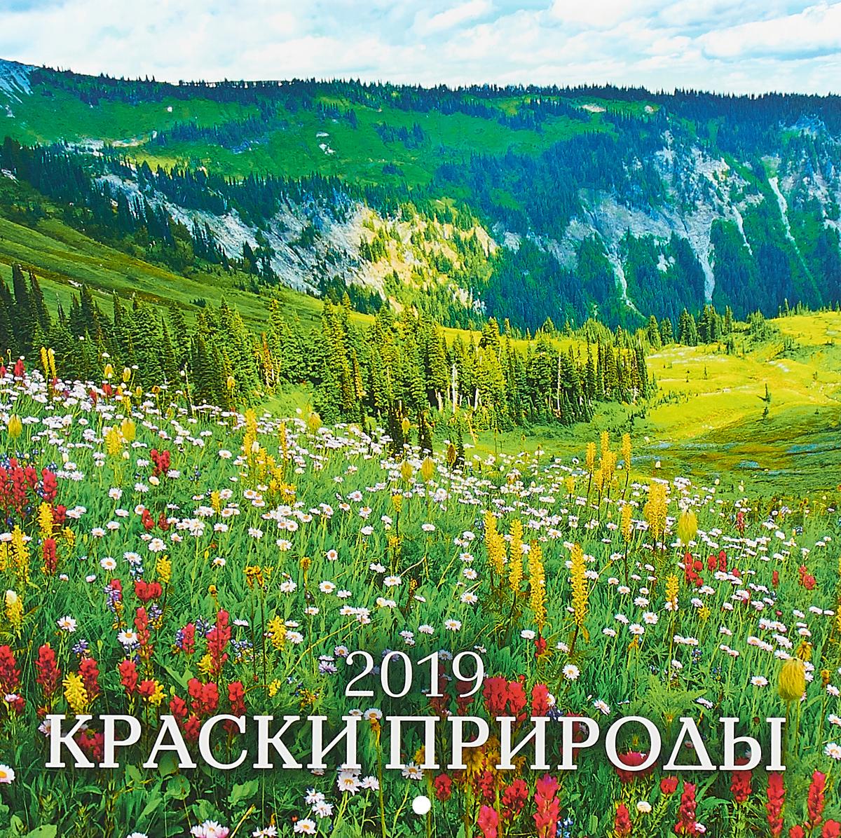 Календарь 2019 (на скрепке). Краски природы календарь настенный 2016г 285 280мм 12л на скрепке d3657
