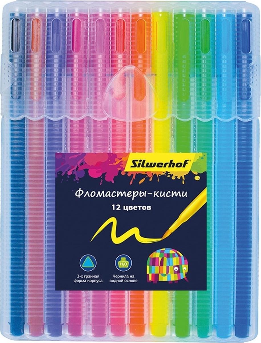 Silwerhof Набор фломастеров Кисть 12 цветов 877069-12 стоимость