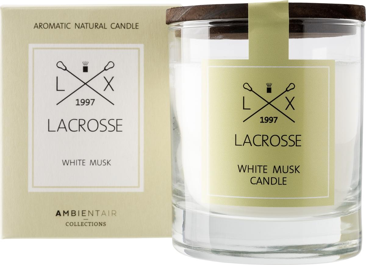 Свеча ароматическая Ambientair Белый мускус, 8 х 8 х 10 см свеча столб ароматическая spaas папайя 15 8 см