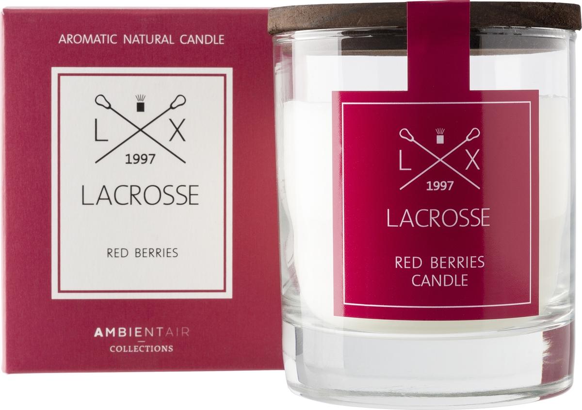 Свеча ароматическая Ambientair Красные ягоды, 8 х 8 х 10 см свеча столб ароматическая spaas папайя 15 8 см