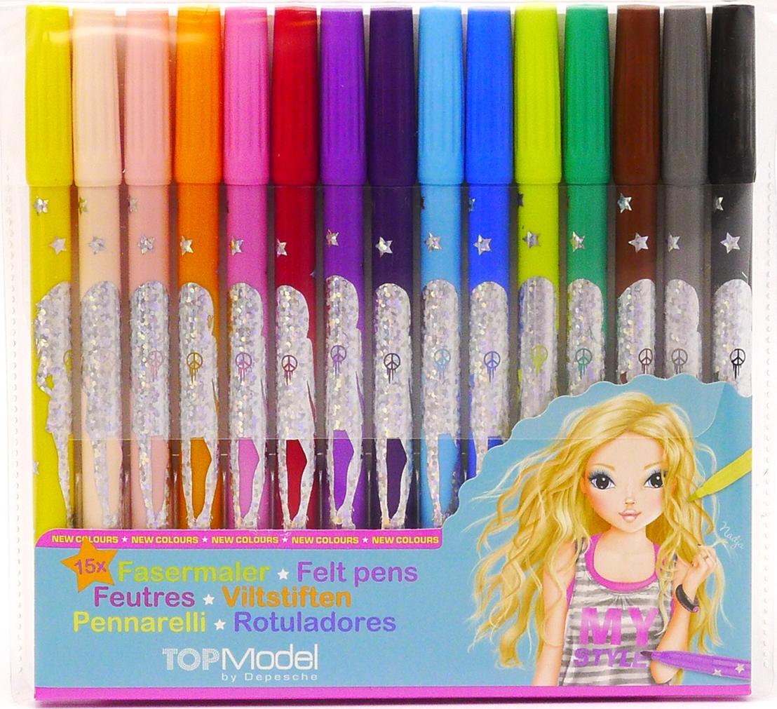 Depesche Цветные фломастеры TOPModel 15 цветов наклейки детские depesche альбом topmodel fantasy мир стикеров с наклейками