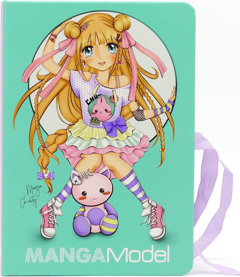 Depesche Папка TOPModel Manga с зажимом и набором для записей depesche набор цветных карандашей neon topmodel