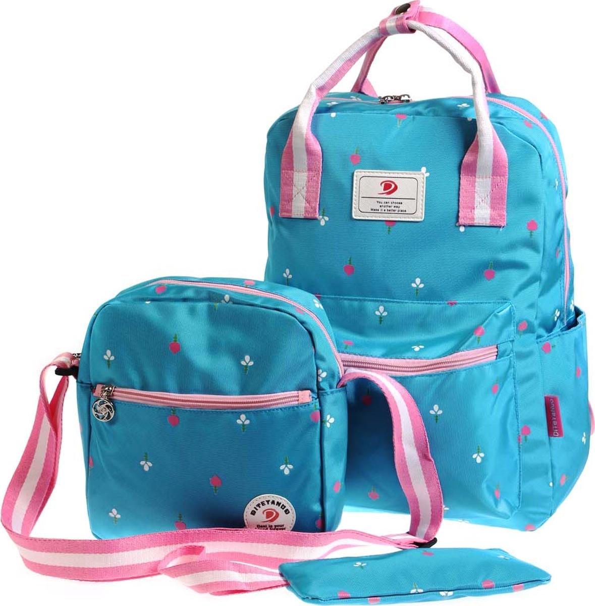 Vittorio Richi Рюкзак детский с наполнением цвет голубой розовый K05R5521 vittorio richi рюкзак детский с наполнением цвет голубой k05r5505