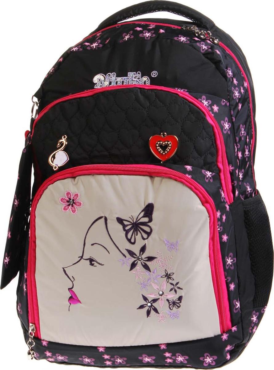 Vittorio Richi Рюкзак детский с наполнением цвет черный бежевый K05RN1725 рюкзак детский mojo pax mojo pax рюкзак boombox с колонками черный белый
