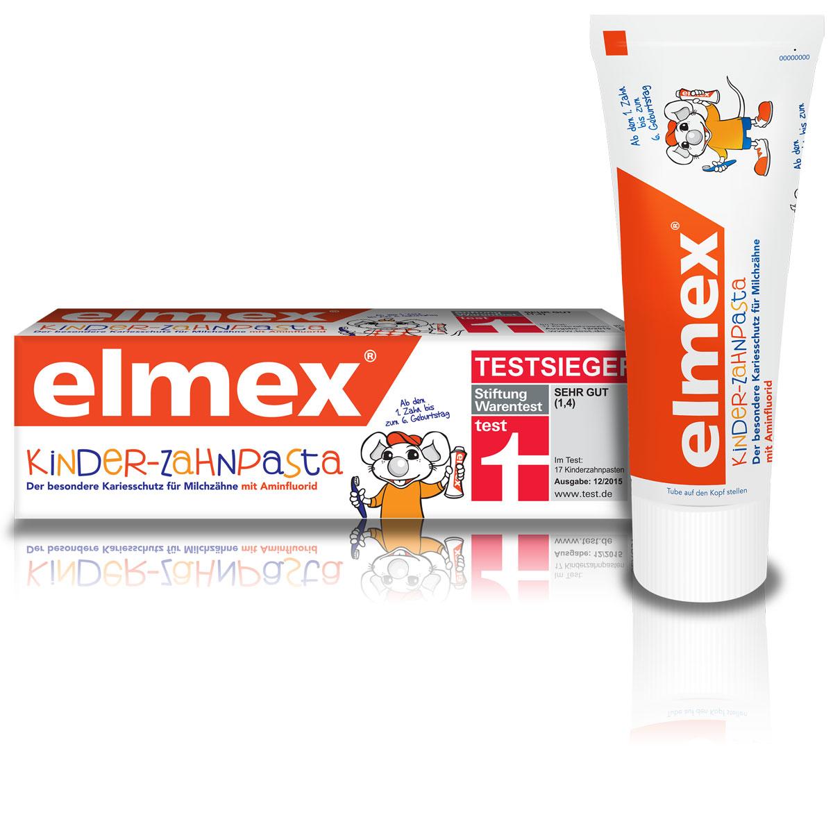 Colgate Зубная паста Elmex, детская, для детей с 1-го зуба и до 6 лет, 50 мл невская косметика новый жемчуг зубная паста детская от 1 до 6 лет апельсин 50 мл