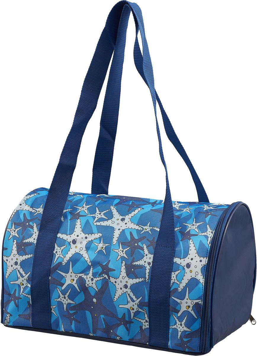 Сумка-переноска для животных Теремок. Морские звезды, 34 х 22 х 21 см зооник сумка переноска для животных 32 36 47см
