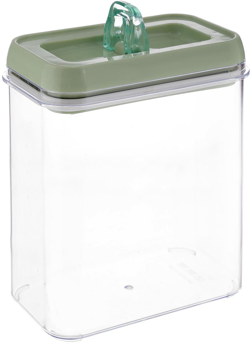 Контейнер для продуктов Herevin, с вакуумной крышкой, цвет: оливковый, 1,8 л бульонница зеленый горизонт с вакуумной крышкой цвет белый 574 537