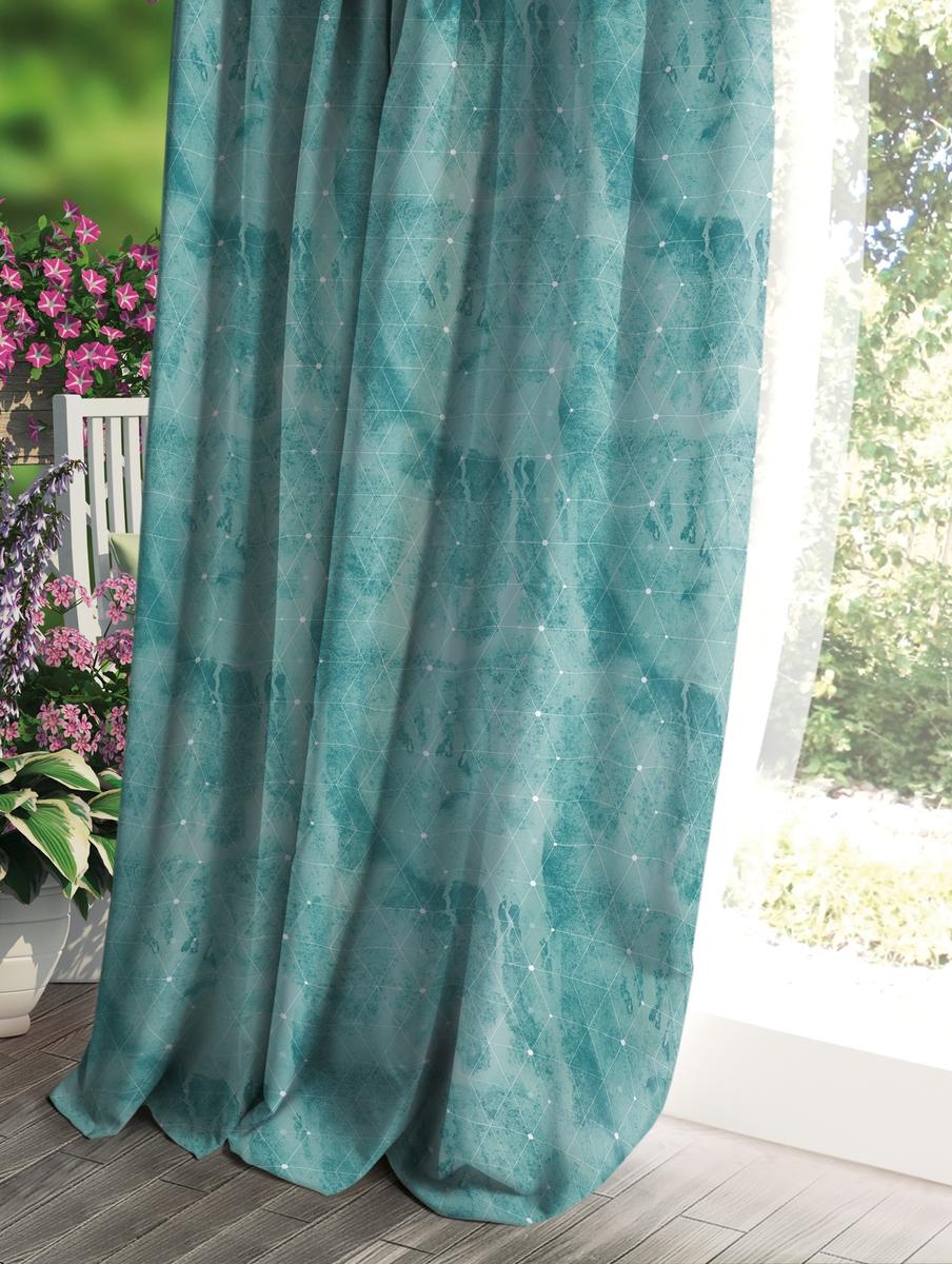 Штора Волшебная ночь Прованс, цвет: зеленый, 150 x 270 см рулонная штора волшебная ночь 120x175 стиль прованс рисунок emma