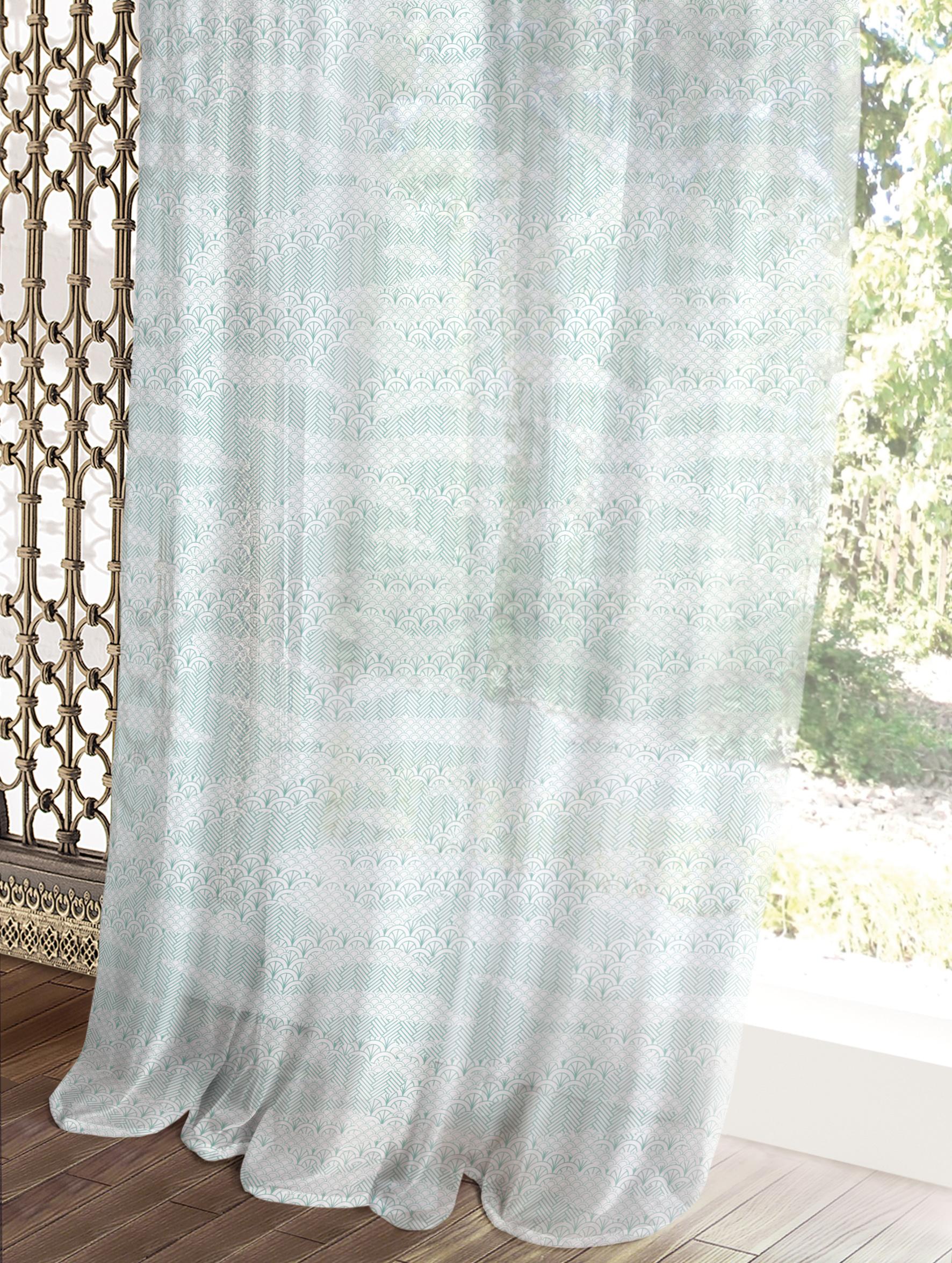 Комплект штор Волшебная ночь Этно, цвет: голубой, 150 x 270 см, 2 шт