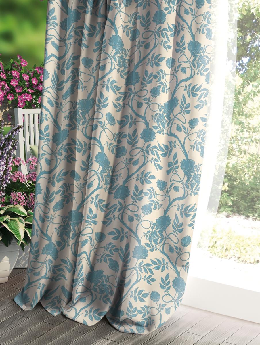 Штора Волшебная ночь Прованс, цвет: светло-серый, 150 x 270 см рулонная штора волшебная ночь 120x175 стиль прованс рисунок emma