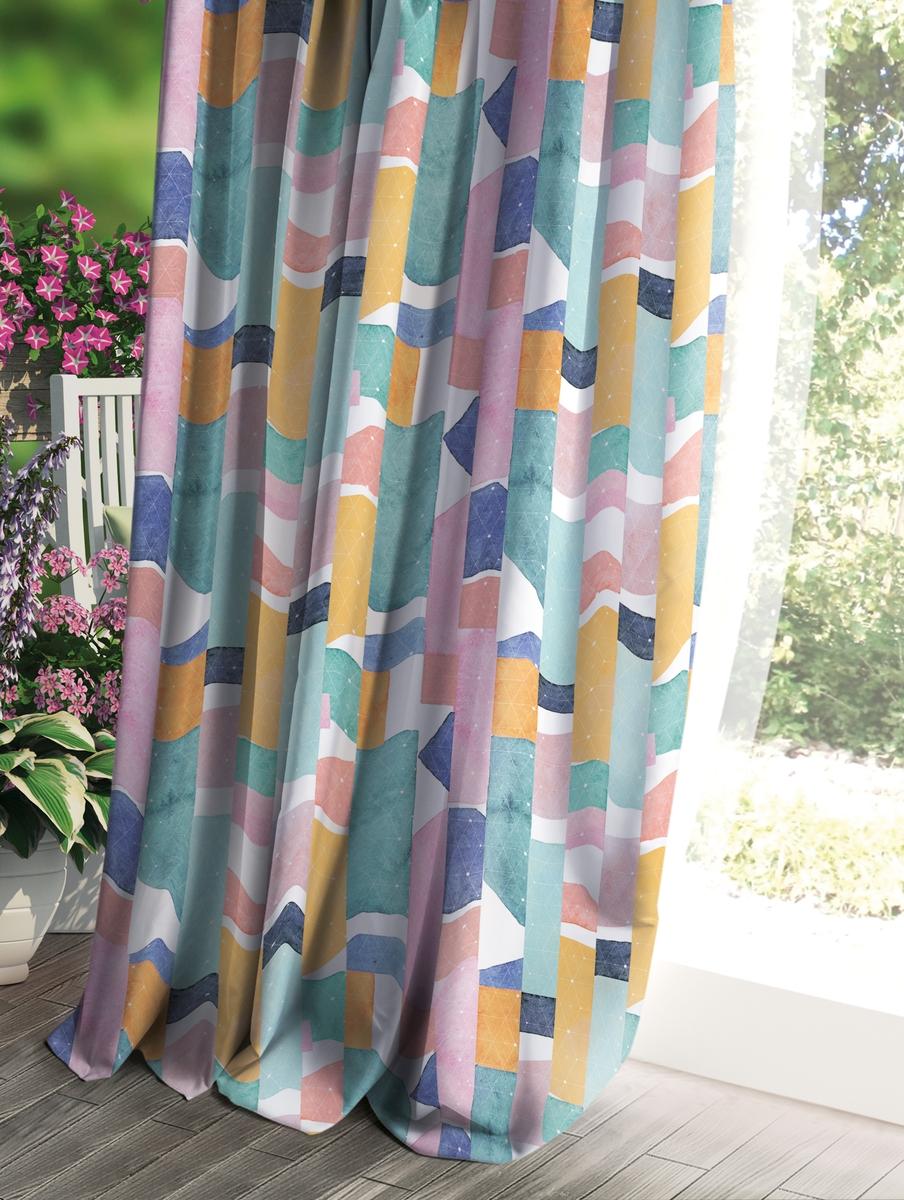 Штора Волшебная ночь Прованс, цвет: разноцветный, 150 x 270 см рулонная штора волшебная ночь 120x175 стиль прованс рисунок emma