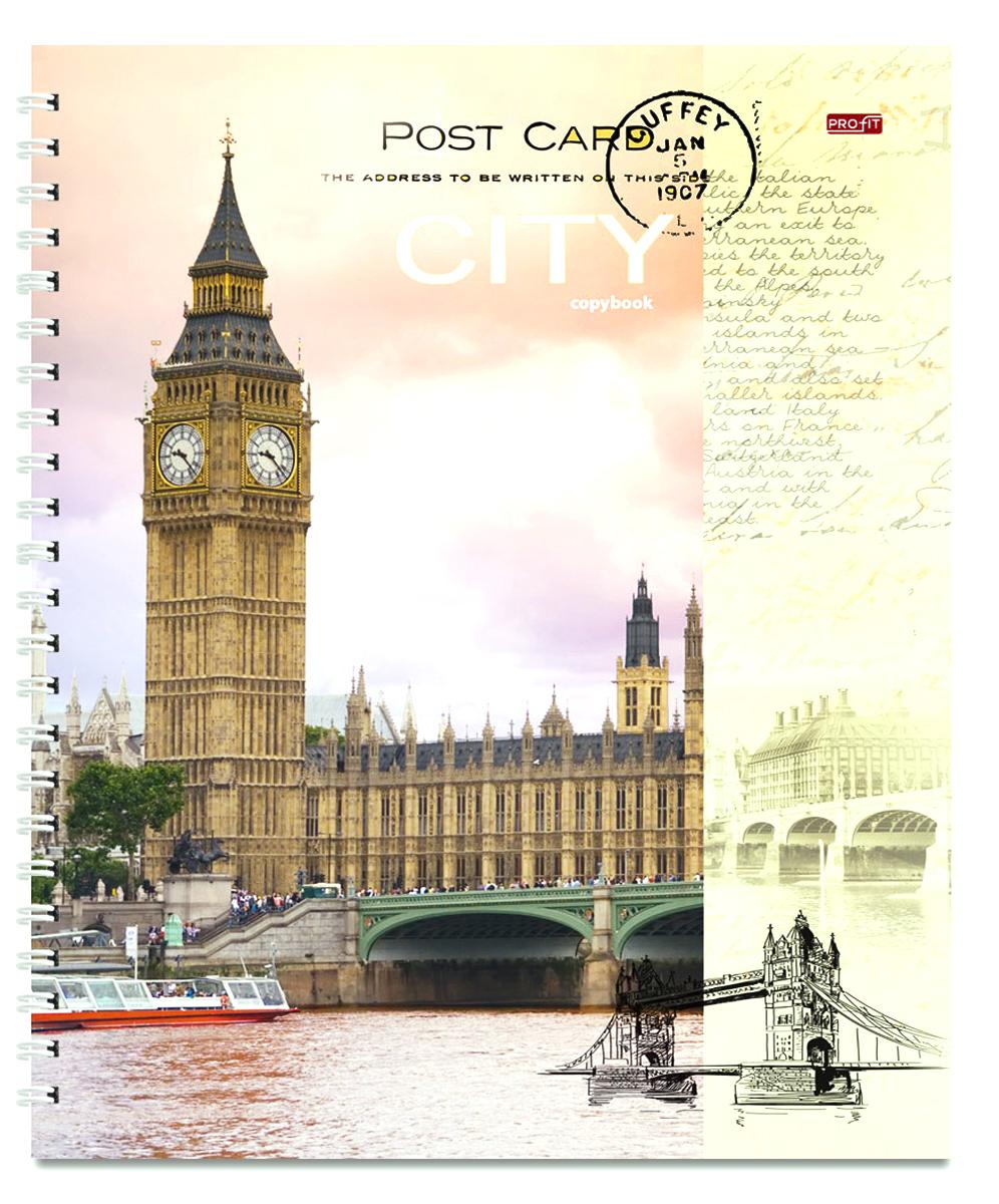Profit Тетрадь Открытка из Лондона 96 листов в клетку, Тетради  - купить со скидкой