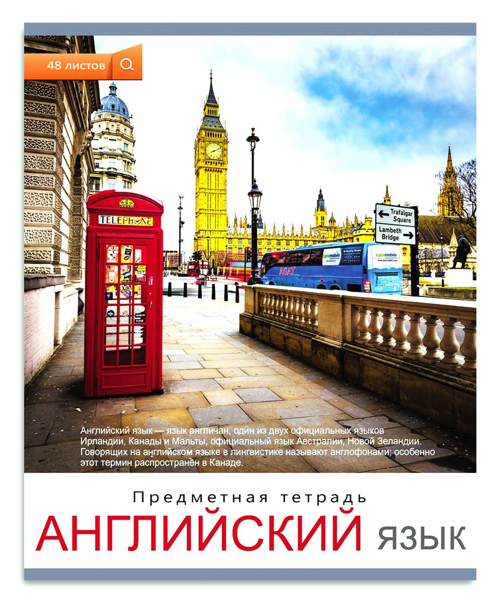 Проф-Пресс Тетрадь Мир вокруг Английский язык 48 листов в клетку проф пресс большая раскраска мир вокруг
