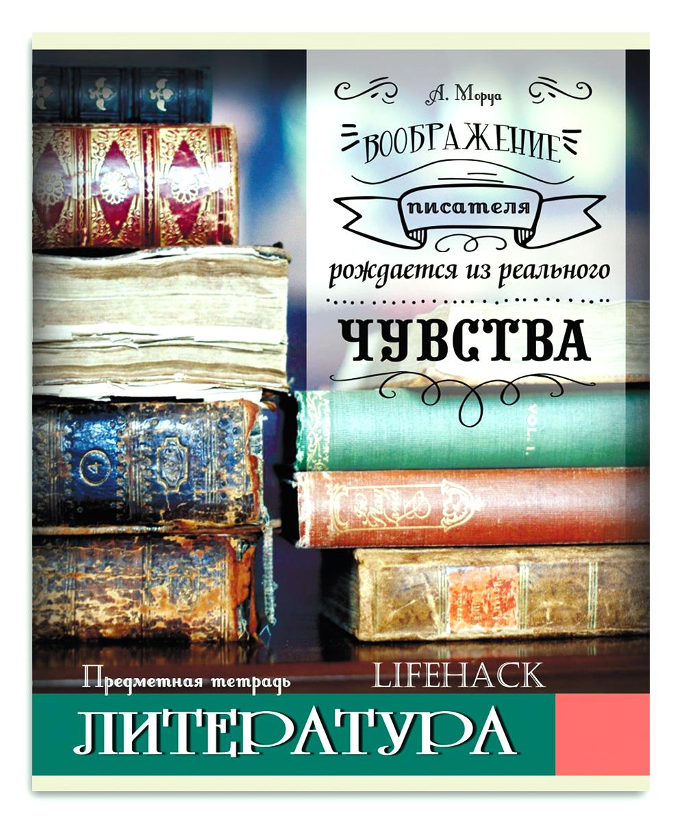 Проф-Пресс Тетрадь Лайфхак Литература 48 листов в линейку, Тетради  - купить со скидкой