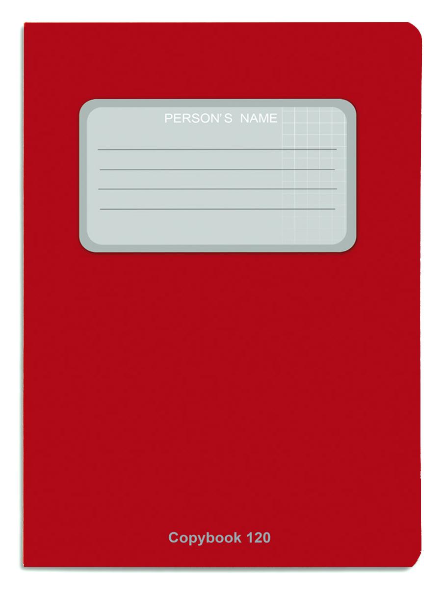 Проф-Пресс Тетрадь 120 листов в клетку цвет бордовый