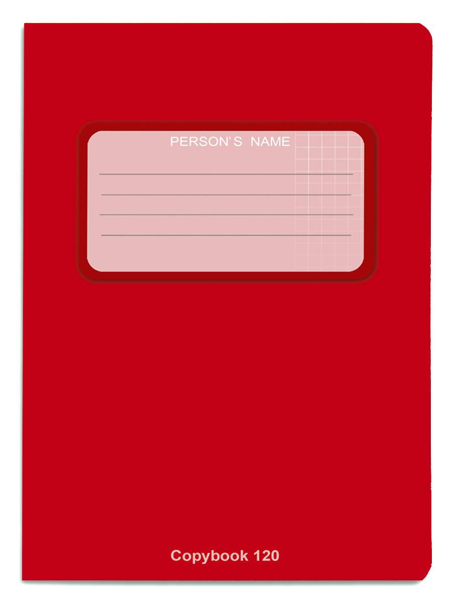 Проф-Пресс Тетрадь 120 листов в клетку цвет красный