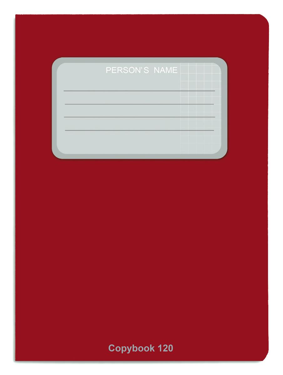 Проф-Пресс Тетрадь 120 листов в клетку цвет бордовый проф пресс классный журнал для 1 4 классов 64 листа