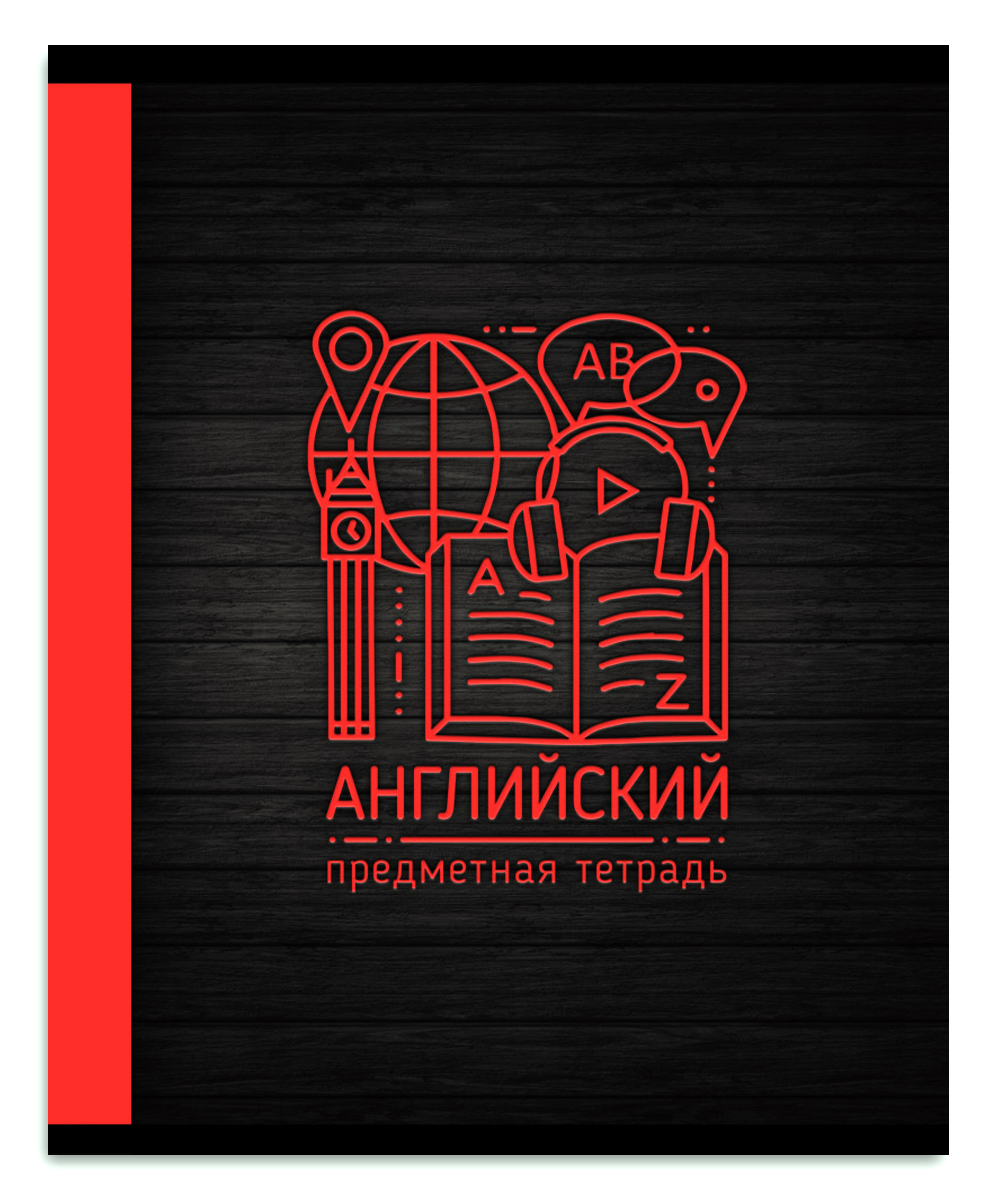Legend Тетрадь Монограмма Английский язык 48 листов в клетку, Тетради  - купить со скидкой